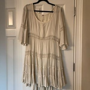 Free People - Babydoll Style Cream Color Dress